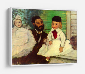 Portrait of Count Lepic and his daughters by Degas HD Metal Print - Canvas Art Rocks - 7