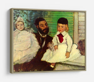 Portrait of Count Lepic and his daughters by Degas HD Metal Print - Canvas Art Rocks - 8