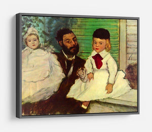 Portrait of Count Lepic and his daughters by Degas HD Metal Print - Canvas Art Rocks - 9