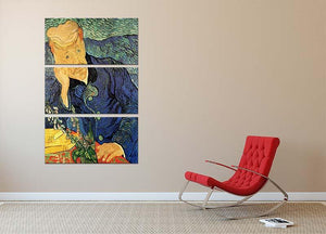 Portrait of Doctor Gachet 2 by Van Gogh 3 Split Panel Canvas Print - Canvas Art Rocks - 2
