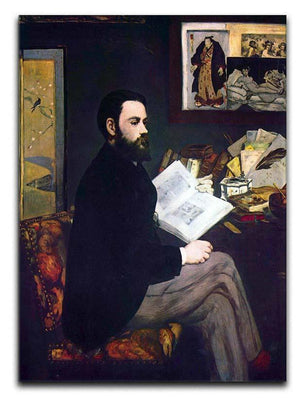 Portrait of Emile Zola by Manet Canvas Print or Poster  - Canvas Art Rocks - 1