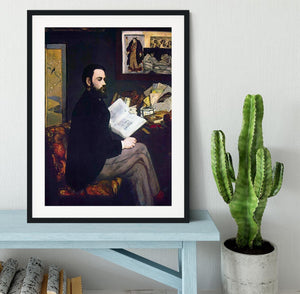 Portrait of Emile Zola by Manet Framed Print - Canvas Art Rocks - 1