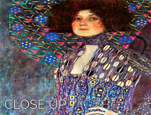 Portrait of Emily Floge by Klimt 3 Split Panel Canvas Print - Canvas Art Rocks - 3