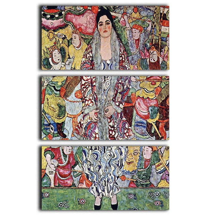 Portrait of Frederika Maria Beer by Klimt 3 Split Panel Canvas Print