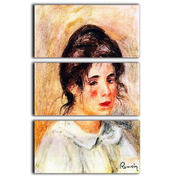 Portrait of Gabrielle by Renoir 3 Split Panel Canvas Print