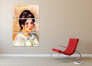 Portrait of Gabrielle by Renoir 3 Split Panel Canvas Print - Canvas Art Rocks - 2