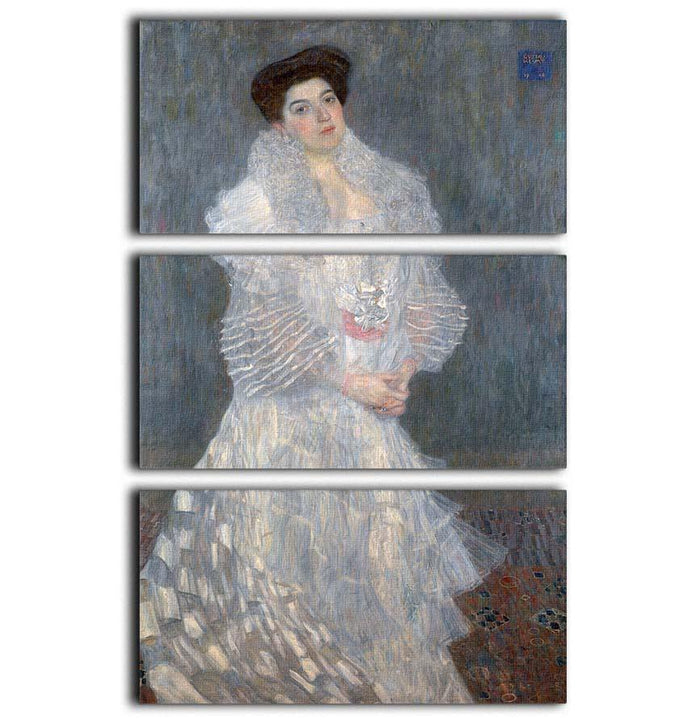 Portrait of Hermine Gallia by Klimt 3 Split Panel Canvas Print