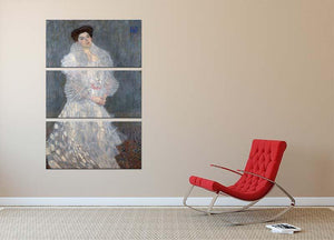 Portrait of Hermine Gallia by Klimt 3 Split Panel Canvas Print - Canvas Art Rocks - 2