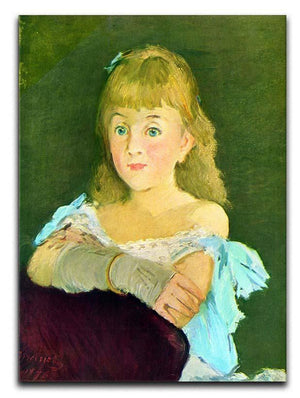 Portrait of Lina Campineanu by Manet Canvas Print or Poster  - Canvas Art Rocks - 1