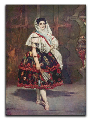 Portrait of Lola de Valence by Manet Canvas Print or Poster  - Canvas Art Rocks - 1
