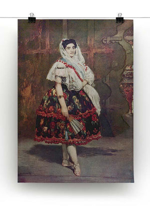 Portrait of Lola de Valence by Manet Canvas Print or Poster - Canvas Art Rocks - 2