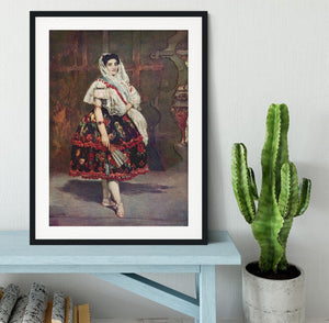 Portrait of Lola de Valence by Manet Framed Print - Canvas Art Rocks - 1