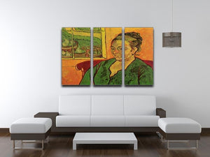Portrait of Madame Augustine Roulin by Van Gogh 3 Split Panel Canvas Print - Canvas Art Rocks - 4
