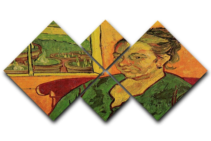 Portrait of Madame Augustine Roulin by Van Gogh 4 Square Multi Panel Canvas