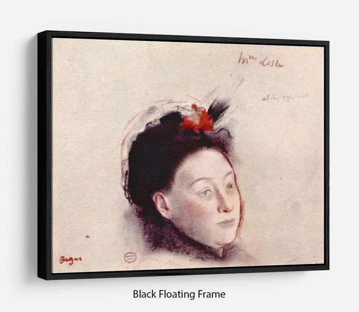 Portrait of Madame Lisle by Degas Floating Frame Canvas