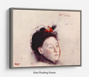 Portrait of Madame Lisle by Degas Floating Frame Canvas - Canvas Art Rocks - 3