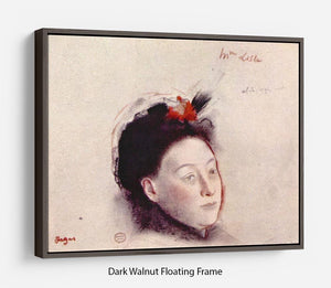 Portrait of Madame Lisle by Degas Floating Frame Canvas - Canvas Art Rocks - 5