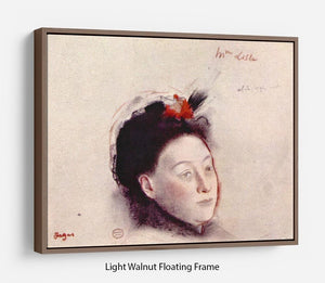Portrait of Madame Lisle by Degas Floating Frame Canvas - Canvas Art Rocks 7