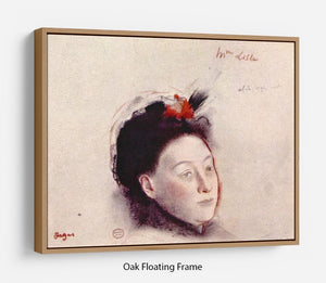 Portrait of Madame Lisle by Degas Floating Frame Canvas - Canvas Art Rocks - 9