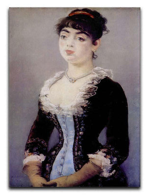 Portrait of Madame Michel LCvy by Manet Canvas Print or Poster  - Canvas Art Rocks - 1