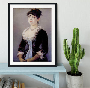Portrait of Madame Michel LCvy by Manet Framed Print - Canvas Art Rocks - 1