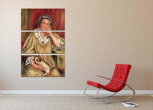 Portrait of Madame Renoir with Bob by Renoir 3 Split Panel Canvas Print - Canvas Art Rocks - 2