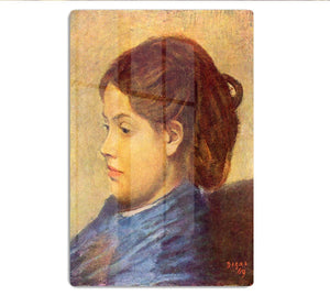 Portrait of Mademoiselle Dobigny by Degas HD Metal Print - Canvas Art Rocks - 1