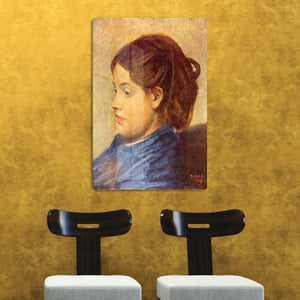 Portrait of Mademoiselle Dobigny by Degas HD Metal Print - Canvas Art Rocks - 2