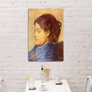 Portrait of Mademoiselle Dobigny by Degas HD Metal Print - Canvas Art Rocks - 3