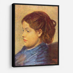 Portrait of Mademoiselle Dobigny by Degas HD Metal Print - Canvas Art Rocks - 6
