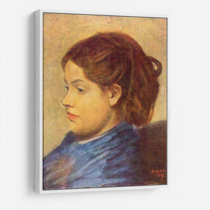 Portrait of Mademoiselle Dobigny by Degas HD Metal Print - Canvas Art Rocks - 7