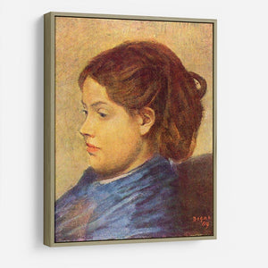 Portrait of Mademoiselle Dobigny by Degas HD Metal Print - Canvas Art Rocks - 8