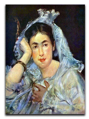 Portrait of Marguerite de Conflans by Manet Canvas Print or Poster  - Canvas Art Rocks - 1