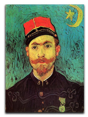 Portrait of Milliet Second Lieutenant of the Zouaves by Van Gogh Canvas Print & Poster  - Canvas Art Rocks - 1