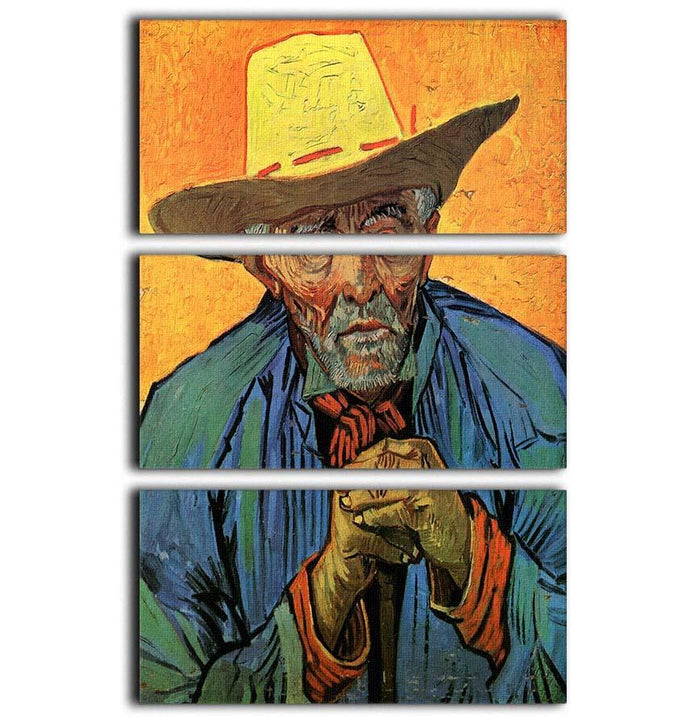 Portrait of Patience Escalier by Van Gogh 3 Split Panel Canvas Print