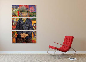 Portrait of Pere Tanguy by Van Gogh 3 Split Panel Canvas Print - Canvas Art Rocks - 2