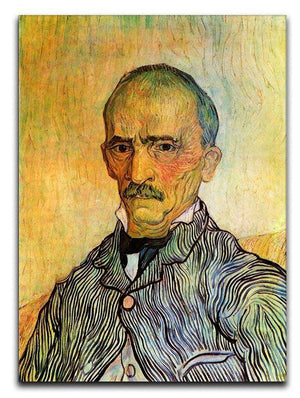 Portrait of Trabuc an Attendant at Saint-Paul Hospital by Van Gogh Canvas Print & Poster  - Canvas Art Rocks - 1