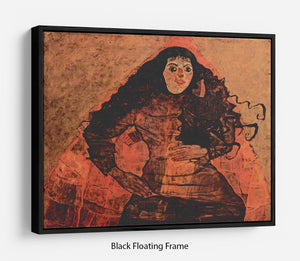 Portrait of Trude Engel by Egon Schiele Floating Frame Canvas - Canvas Art Rocks - 1
