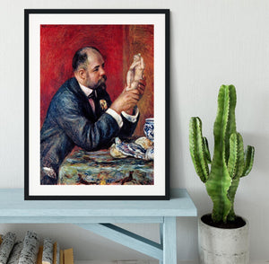 Portrait of Vollard by Renoir Framed Print - Canvas Art Rocks - 1