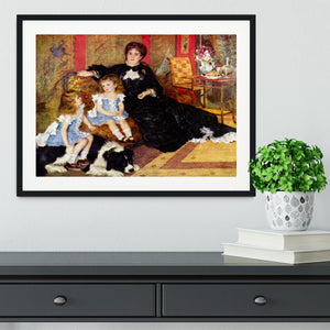 Portrait of the Mrs Charpentier and her children by Renoir Framed Print - Canvas Art Rocks - 1