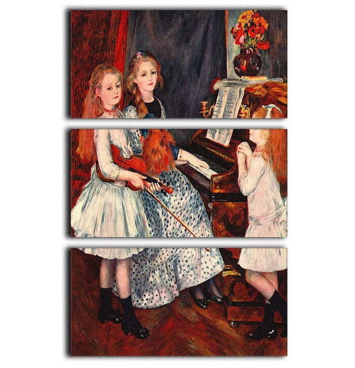 Portrait of the daughter of Catulle Mendes by Renoir 3 Split Panel Canvas Print