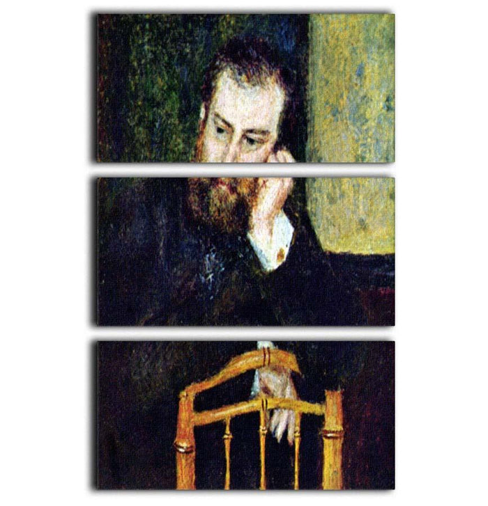 Portrait of the painter Alfred Sisley 1 by Renoir 3 Split Panel Canvas Print