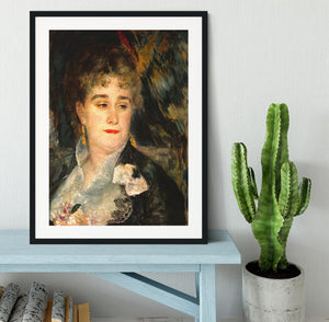 Portraits of Mme Charpentier by Renoir Framed Print - Canvas Art Rocks - 1