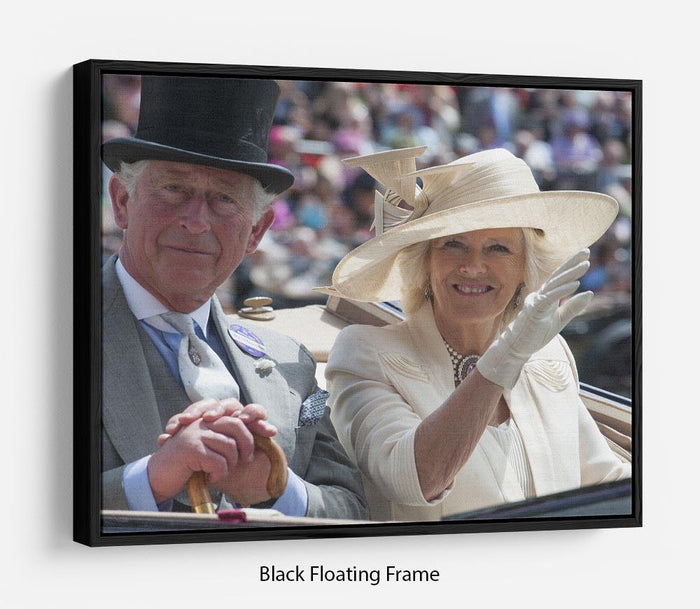 Prince Charles and Camilla at the Royal Ascot Floating Frame Canvas