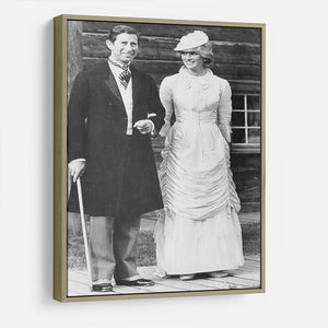Prince Charles and Princess Diana at Fort Edmonton Canada HD Metal Print