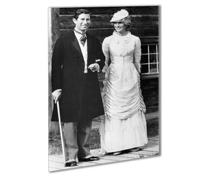 Prince Charles and Princess Diana at Fort Edmonton Canada Outdoor Metal Print - Canvas Art Rocks - 1