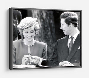 Prince Charles and Princess Diana in Vancouver Canada HD Metal Print