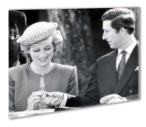 Prince Charles and Princess Diana in Vancouver Canada Outdoor Metal Print - Canvas Art Rocks - 1
