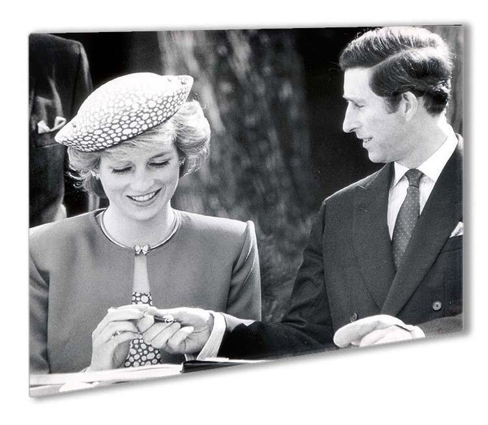 Prince Charles and Princess Diana in Vancouver Canada Outdoor Metal Print