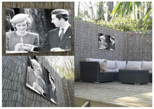 Prince Charles and Princess Diana in Vancouver Canada Outdoor Metal Print - Canvas Art Rocks - 2